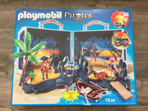 Ile au trésor des pirates transportable - Playmobil Pirates