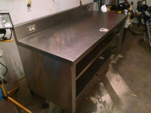 """Stainless Steel Table 72"""" x 30"""""""