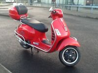 Vespa Gts 300 super, 2012 reg scooter, poss deliver