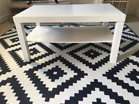 IKEA coffee table and bookcase