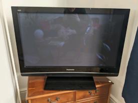 "Panasonic Plasma 43"" TV with stand and remote"