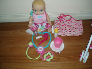 Baby Alive Doll Stroller Toilet w/ Water Sound, Cash Register