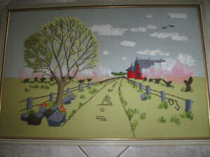 ...Hand-Crafted Country-Styled Framed Needle-Work....
