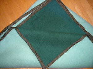 Heavier 2 Tone Green Blanket for Double Bed
