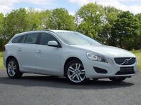 Volvo V60 1.6 D2 SE Powershift 5dr (start/stop) (white) 2013