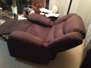 Brown Brushed Fabric Electric Recliner Chair