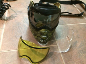 Paintball mask, 3 visors. Selling all my paintball gear