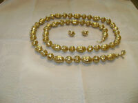 BAROQUE GOLD PEARL NECKLACE WITH EARRINGS