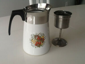 Vintage Corning Ware Percolator Coffee Maker