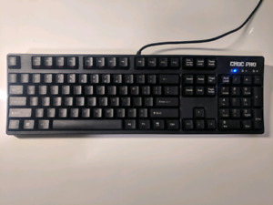 Mechanical keyboard with cherry black switches