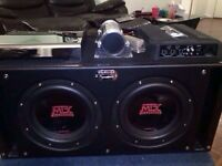 Subwoofer with amps