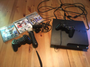 Playstation slim PS3 with games