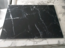 2 Black Marble Design Glass Chopping Boards