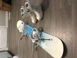 Women's K2 board, bindings and boots for sale.