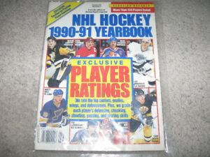 NHL Hockey 1990-91 Yearbook Magazine-Excellent + hockey gear