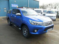 TOYOTA HILUX INVINCIBLE 2.4 D4-D 150PS D/CAB MANUAL CLOTH MET/BLUE 66REG