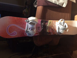 Sims star 148 girls snowboard with. Boots and bindings