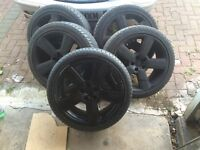 Seat x5 alloy wheels. Tyres. 100x5 PCd