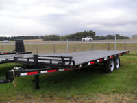 "NEW CANADIAN MADE ""RAINBOW"" 20' FLAT DECK TRAILERS Red Deer Alberta Preview"