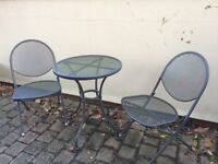 Bistro garden table and chairs