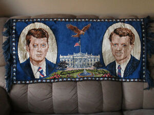 NEW PRICE President Kennedy and Senator Robert Kennedy tapestry Cambridge Kitchener Area image 1