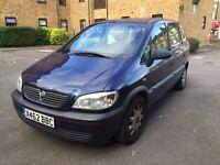 Vauxhall zafira 7 seater clean car x reg 1.6cc