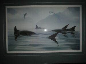 """Masters of The Inlet"" Killer Whales Lithograph by Bruce Muir 41 Sarnia Sarnia Area image 2"