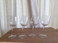 4 JP Chenet wonky wine glasses