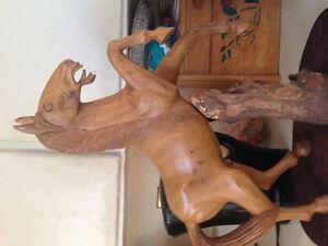 Wood carved stallion Kawartha Lakes Peterborough Area image 3