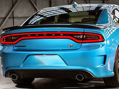 "Spoiler ""Hellcat"" Wing PAINTED MATTE DULL BLACK For: DODGE CHARGER 2014-2017"