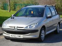 PEUGEOT 206 SW ESTATE 1.4 XL LONG MOT