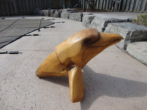 Custom Artisan Carved Solid Wood Bobbing Dolphin ForLake Cottage Kitchener / Waterloo Kitchener Area image 2