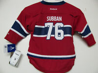 MONTREAL CANADIENS YOUTH HOCKEY JERSEYS SUBBAN INF.4-7 S/M L/XL