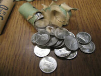 Sealed Bank Roll of Silver Canadian 1965 10c - 50 Coins in roll