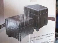 Two Storage Ottoman Foot Stools NEW in BOX