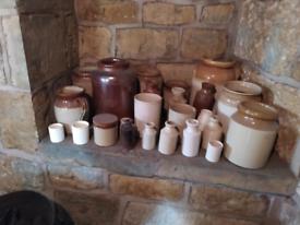 Stoneware various items