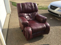 Very comfortable real leather recliner