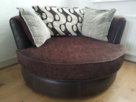 DFS 360 swivel corner sofa