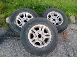 3 Mags + Pneus pour Ford Ranger, Mazda B, 235/75 R15, Livrés