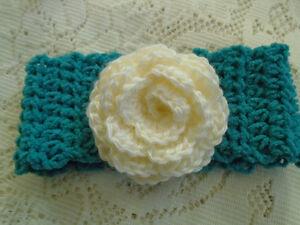 Infant Headband Earwarmer With Flower -  Photo Prop