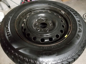 Dodge Grand Caravan 225/65R16 Winter Tires on OEM Steel rims
