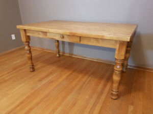 Wood Table with Drawer - *NEW PRICE*
