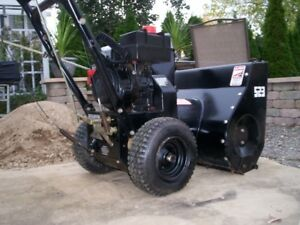 I AM SELLING....5  HORSE POWER SNOW THROWER LIKE NEW