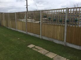 🌲Pressure Treated High Quality Trellis Wooden Garden Fence Panels • Various Sizes Available🌲