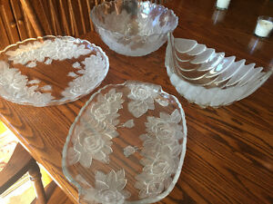 Crystal serving platters/ bowls