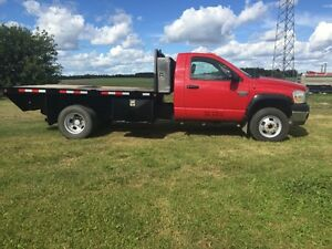 2007 Dodge Dsl 4x4 Dually Deck Truck Strathcona County Edmonton Area image 2