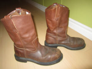 Men's Leather Steel toe Red Wing boots Pesco size 10