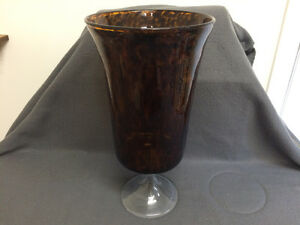 Collectible Antique Large Amber Vase