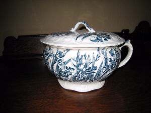 antique iris pattern chamber pot -or best offer