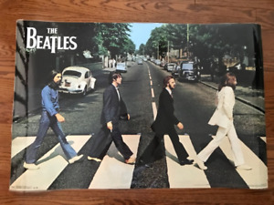 The Beatles Laminated Poster Display - Great Condition!
